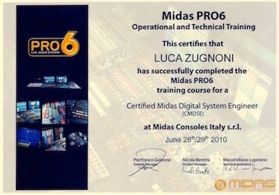 Diploma Certified Midas Digital System Engineer