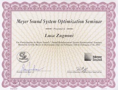 Diploma Meyer Sound System Optimization